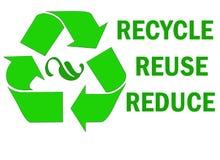 Recycle återanvänder förminskar ord royaltyfri illustrationer