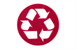 Recycle. Close up of a recycle sign Stock Image