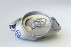 Recycle. Drink can ready for recycling stock image