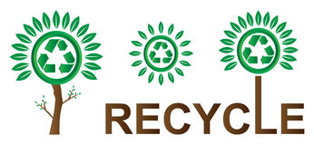 Recycle. Illustration of ecology on white background Royalty Free Stock Photography