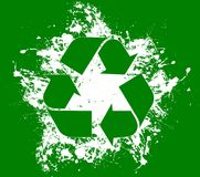 Recycle. Concept with splashy design Royalty Free Stock Photography