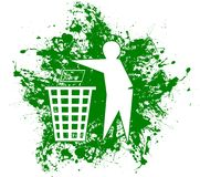 Recycle. Splashy design with recycle icon royalty free illustration