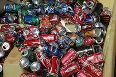Recycle cans Stock Image