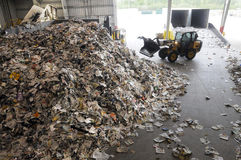 Recycle. Material being recycled at a Florida landfill Stock Photography
