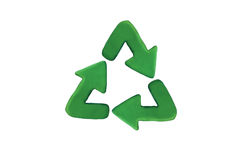Recycle. Eco logo with green plastcine Stock Images