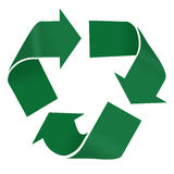Recycle. Symbol in green isolated on white background Royalty Free Stock Photo