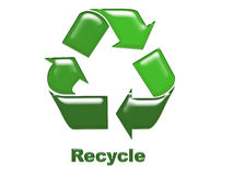 Recycle. A recycling symbol with path incuded Royalty Free Illustration
