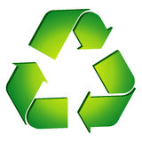Recycle. Icon illustration on white background Royalty Free Stock Photo