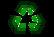 Recycle. Icon illustration on black background Royalty Free Stock Images