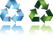 Recycle 3d symbol Stock Image