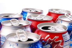 Recycle. Concept. Aluminum cans closeup for use as background or concept Stock Image