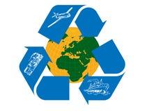 Recycle. Transportation globe Symbol on a White Background vector illustration