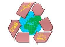 Recycle. Transportation globe Symbol on a White Background stock illustration