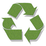Recycle. The process of recycling, animated Royalty Free Stock Images