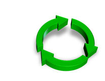 Recycle. 3d rendering recycle logo isolated with clipping path Royalty Free Stock Images