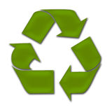 Recycle. An isolated Green Recycle / Recycling / Environment Symbol Royalty Free Stock Photos