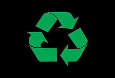 Recycle. A symbol of recycling in a black background Royalty Free Stock Image