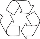 Recycle. Icon illustration on white background Royalty Free Stock Photos