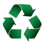 Recycle. Icon illustration on white background Stock Photos