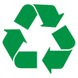 Recycle. Logo like web button Stock Image