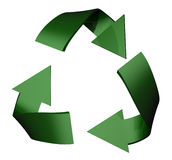 Recycle. Symbol rendered in 3D Royalty Free Stock Images