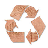 Recycle. Icon illustration with cardboard onbackground Stock Photo