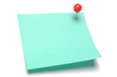 Recycle adhesive note Stock Image