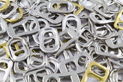 Recycle Aluminium Ear Can. This is closeup recycle aluminium ear can Stock Image