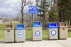 Recycle area Stock Photo