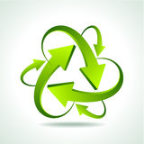 recycle arrow on  background Royalty Free Stock Images