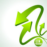 recycle arrow on  background Royalty Free Stock Photo
