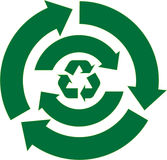 Recycle Arrow Set. Green Recycle Icon Set Designs Stock Photography