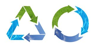 recycle arrow symbol Royalty Free Stock Images