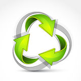 Recycle arrows. A background design of recycle arrows Stock Photography