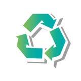 Recycle arrows ecology icon Stock Photos