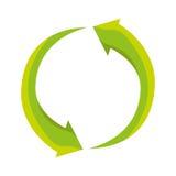 Recycle arrows ecology icon. Vector illustration design Royalty Free Stock Photos