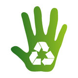 Recycle arrows ecology icon. Vector illustration design Royalty Free Stock Photography