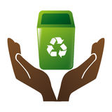 Recycle arrows ecology icon. Vector illustration design Royalty Free Stock Photos