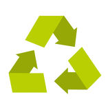 Recycle arrows ecology symbol. Illustration design Royalty Free Stock Photos