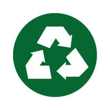 Recycle arrows ecology symbol. Illustration design Royalty Free Stock Photos