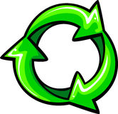 Recycle Arrows Graphic Symbol. Graphic Illustration of Green Recycle Arrows Royalty Free Stock Image