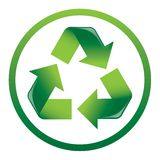 Recycle Arrows Icon. A vector illustration of a triangular recycling icon Stock Photo