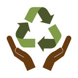 Recycle arrows icon image. Vector illustration design Stock Photography