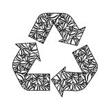 Recycle arrows icon image. Vector illustration design Royalty Free Stock Photo