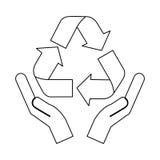 Recycle arrows icon image. Vector illustration design Stock Photos