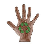 Recycle arrows icon image. Vector illustration design Royalty Free Stock Images