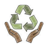 Recycle arrows icon image. Vector illustration design Stock Image