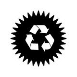 Recycle arrows label or emblem icon image. Vector illustration design Royalty Free Stock Image