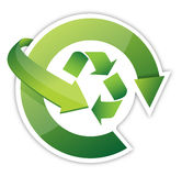 Recycle Arrows, recycle symbol cycle. Illustration design over white Stock Images