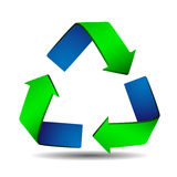 Recycle Arrows sign Stock Photo